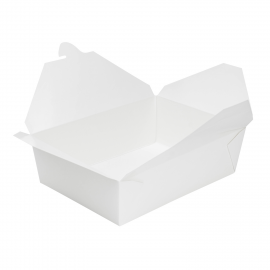 "KARAT 76 OZ WHITE PAPER TO GO CONTAINERS, 7.8"" X 5.5"" X 2.4"" (200)"