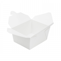 "KARAT 30 OZ WHITE PAPER TO GO CONTAINERS, 4.3"" X 3.5"" X 2.4"" (450)"