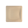 "WORLD CENTRIC 7"" SQUARE UNBLEACHED PLANT FIBER PLATE - SOLD PER CASE OF 1000"