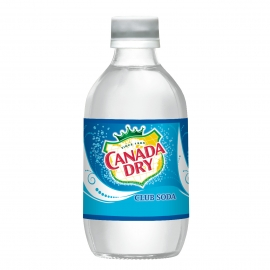CANADA DRY® CLUB SODA, 10 OZ GLASS BOTTLES (24 BOTTLES/CASE)