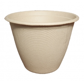 WORLD CENTRIC 16 OZ ROUND BARREL UNBLEACHED PLANT FIBER BOWL - SOLD PER CASE OF 500