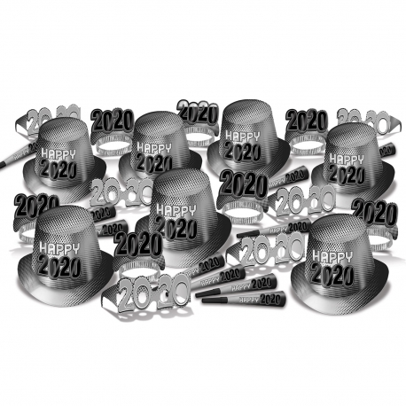 "BEISTLE 80235-50 NEW YEAR ""2020"" SILVER ASSORMENT FOR 50 (KIT)"