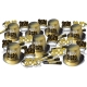 "BEISTLE 80235-50 NEW YEAR ""2020"" GOLD ASSORMENT FOR 50 (KIT)"