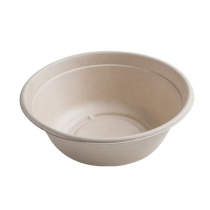 FINELINE SETTINGS 40 OZ ROUND BAGASSE BOWL PLA LINED IN THE CONSERVEWARE COLLECTION, 42RB40 (300)