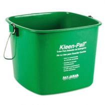 SAN JAMAR KLEEN-PAIL, 6 QT GREEN CLEANING PAIL WITH HANDLE (EACH)