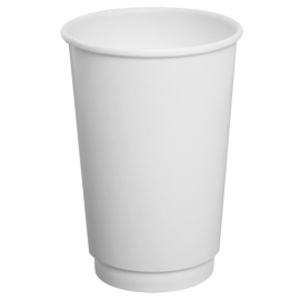 "KARAT 16 OZ, WHITE PAPER INSULATED ""DOUBLE WALL"" HOT CUP (500)"