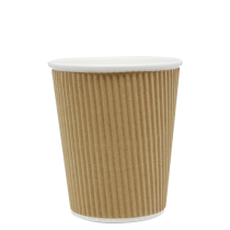 CUP, PAPER, 8 OZ, KRAFT, HOT,