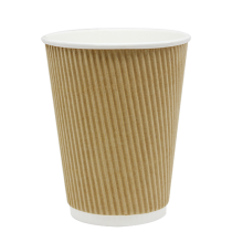CUP, PAPER, 12 OZ, KRAFT, HOT,