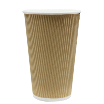 CUP, PAPER, 16 OZ, KRAFT, HOT,