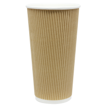 CUP, PAPER, 20 OZ, KRAFT, HOT,