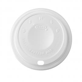 DART 16EL WHITE PLASTIC CAPPUCCINO SIP LID, FOR FOAM CUPS (1000)