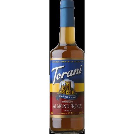 TORANI ALMOND ROCA *SUGAR FREE* FLAVOR SYRUP, 750 ML BOTTLE