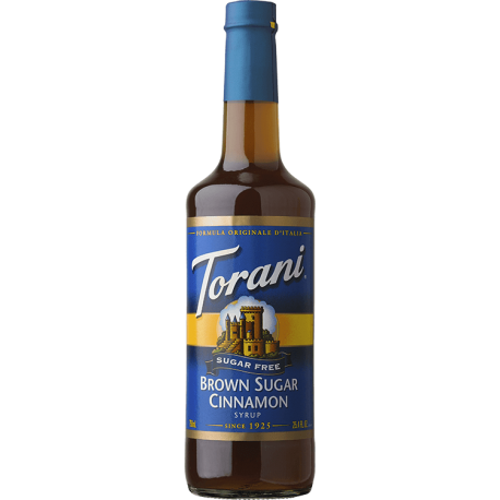 TORANI BROWN SUGAR CINNAMON *SUGAR FREE* FLAVOR SYRUP, 750 ML BOTTLE
