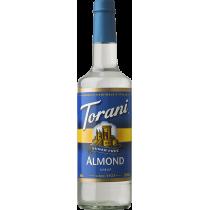 TORANI ALMOND (ORGEAT) *SUGAR FREE* FLAVOR SYRUP, 750 ML BOTTLE