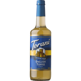 TORANI ENGLISH TOFFEE *SUGAR FREE* FLAVOR SYRUP, 750 ML BOTTLE