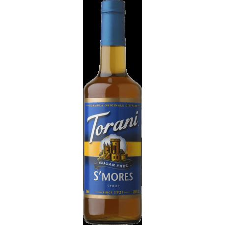 TORANI SMORES *SUGAR FREE* FLAVOR SYRUP, 750 ML BOTTLE