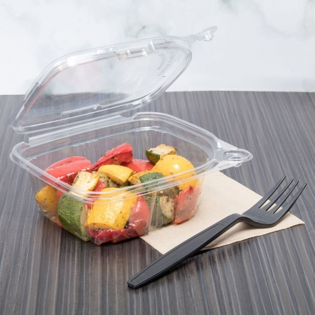 KARAT 12 OZ CLEAR TAMPER EVIDENT DELI CONTAINER W/LID, (200)