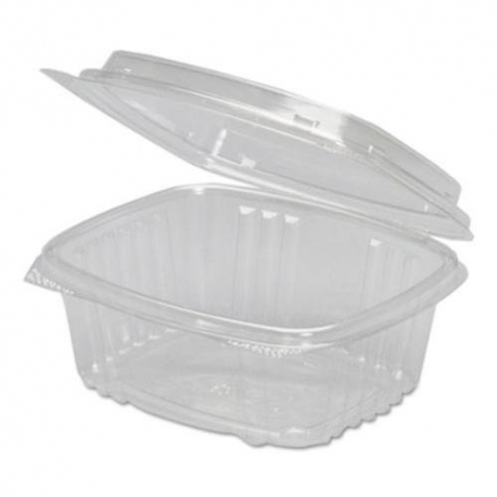 GENPAK PLASTIC 16 OZ, HINGED LID, DELI CONTAINER, SECURE SEAL,  AD16 (200)