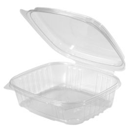 GENPAK PLASTIC 24 OZ, HIGH DOME HINGED LID, DELI CONTAINER, SECURE SEAL, AD24 (200)