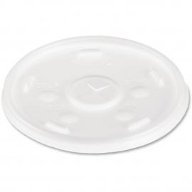 DART 24SL05 TRANSLUCENT PLASTIC LID, W/STRAW SLOT, FOR FOAM CUPS/P16 (500)