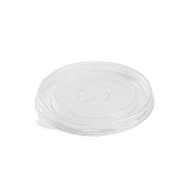 KARAT FLAT PLASTIC LID FOR 6-16 OZ GOURMET HOT/COLD CONTAINER (1,000)