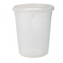 32 OZ DELI CONTAINER & LID COMBO, MEDIUM DUTY POLYPROPYLENE (240)