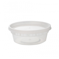 8 OZ DELI CONTAINER & LID COMBO, MEDIUM DUTY POLYPROPYLENE (240)