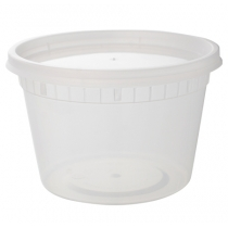 16 OZ DELI CONTAINER & LID COMBO, MEDIUM DUTY POLYPROPYLENE (240)