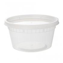 12 OZ DELI CONTAINER & LID COMBO, MEDIUM DUTY POLYPROPYLENE (240)