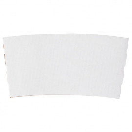 """LBP WHITE PAPER COFFEE """"BUDDY"""" HOT CUP SLEEVE FOR 10-24 OZ CUPS (1,200)"""