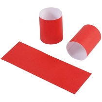"""EVERGREEN RED NAPKIN BANDS, 4.25"""" X 1.5"""" N9S240 (2500)"""