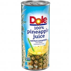 DOLE 100% PINEAPPLE JUICE, 8.4 OZ CANS (24)