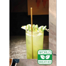 """CLEAR JUMBO (STANDARD) 8"""" BEVERAGE STRAW, ECO-FRIENDLY BAGASSE, WRAPPED (7,500)"""