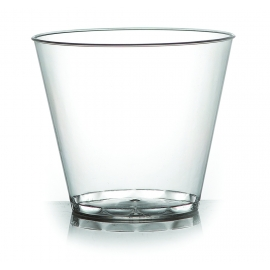 FINELINE 9 OZ, HARD PLASTIC TUMBLER, CLEAR, SAVVI SERVE, 409-CL (500)