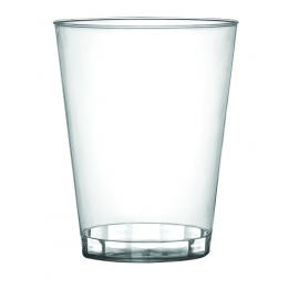 FINELINE 10 OZ HARD PLASTIC TUMBLER, CLEAR, SAVVI SERVE, 410-CL (500)