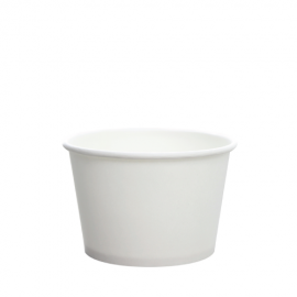 KARAT 8 OZ WHITE HOT/SOUP PAPER CONTAINER, C-KDP8W (1000/CS)