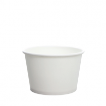 CONTAINER, PAPER, 8 OZ, WHITE