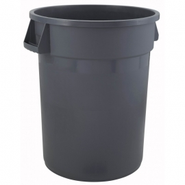 55 GALLON TRASH CAN, ROUND, GRAY (EACH)