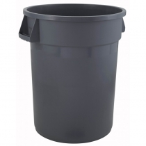 CONTAINER, 55 GAL, GRAY, ROUND