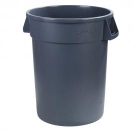 44 GALLON TRASH CAN, ROUND, GRAY (EACH)