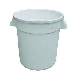 10 GALLON TRASH CAN, ROUND, WHITE (EACH)