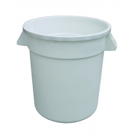 TRASH CAN, ROUND, 10 GALLON, WHITE - SOLD EACH