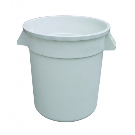 CONTAINER, 10 GAL, WHITE, ROUN