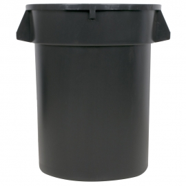 TRASH CAN, ROUND, 32 GALLON, GRAY - SOLD EACH