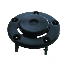 TRASH CAN DOLLY FOR ROUND CANS, BLACK (EACH)