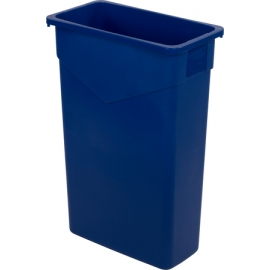 SLIM RECTANGULAR BLUE 23 GALLON RECYCLING CONTAINER (EACH)