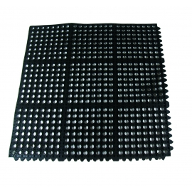 "UPDATE 3' x 3' x 3/8"" BLACK ANTI-FATIGUE MAT, INTERLOCKING, FM-33B (EA)"