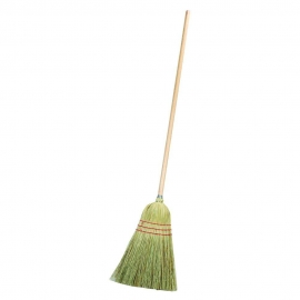 WOODEN HANDLE WAREHOUSE BROOM WITH CORN BRISTLES (EACH)