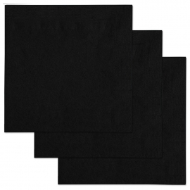 BLACK BEVERAGE NAPKINS, 2-PLY (1,000)