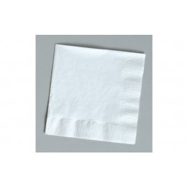 WHITE BEVERAGE NAPKINS, 1-PLY (4,000)